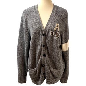 American Eagle Outfitters Varsity Button Up Sweatr